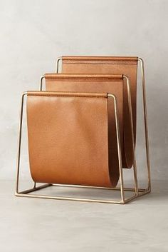 Would be great for records! Anthropologie Saddle Ring Desk Collection #anthrofave #anthropologie