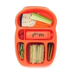 Goodbyn Lunchbox- my daughter loves hers. Easy to pack, no more plastic baggies and tons of compliments.  Comes with hundreds of stickers and in many fab colors. $25.95