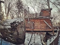 Staying at the Mont Tremblant Treehouses in Winter with a Baby The Mont, Cabin Kits, Forest Floor, Treehouses, The Last Time, Super Excited, First Night, Organizations, Really Cool Stuff