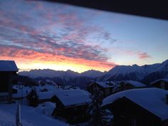 Another incredible sunrise at Berghaus Toni.