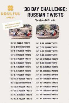 Soulful Sweat 30 Day Russian Twist Challenge