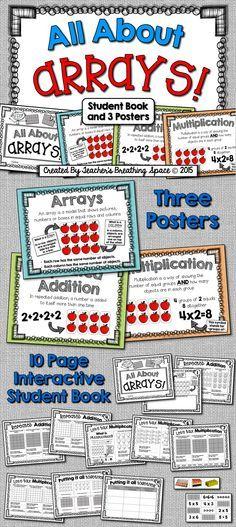 Multiplication Using Arrays Worksheets Homework Pinterest