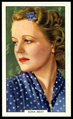 Todos os tamanhos | Cigarette Card - Edna Best | Flickr – Compartilhamento de fotos!