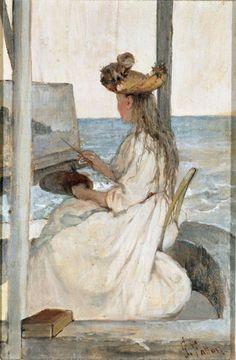 Giovanni Fattori (1825 – 1908, Italian) La scolarina  #TuscanyAgriturismoGiratola