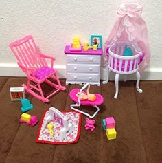 Barbie Size Dollhouse Furniture Gloria Baby Home Nursery Set -- Click image to review more details.Note:It is affiliate link to Amazon.