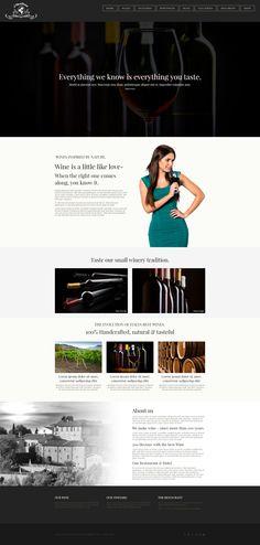 Vinoterra - a modern #Vineyard #WordPress Theme
