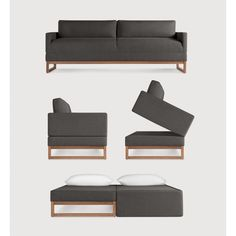 platzsparend ideen l shape sofa set designs, comfy chair becomes a twin mattress sleeper in seconds, Innenarchitektur