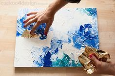 DIY Abstract Artwork Tutorial - - this really does look doable!: