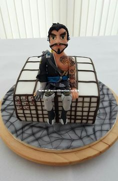 Overwatch- Hanzo SweetStories  #Overwatch #Hanzo #sweetstories #sugarart #sugarcraft #handmade #cakedesign #cakes #cake #birthdaycake #birthday #lemoncake #specialcakes #specialcakesforkids #computergames #samurai Personalised Cakes, Overwatch Hanzo, Sweet Stories, Feel Unique, Sweet Recipes, Samurai, First Love, Special Occasion, Birthday