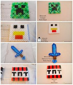 Running away? I'll help you pack.: Minecraft Party ... Minecraft Perler Bead Characters