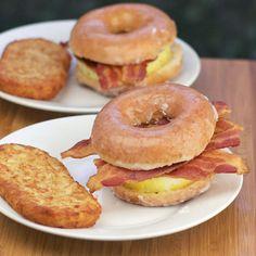 Recreating Dunkin' Donuts' Glazed Donut Breakfast Sandwich