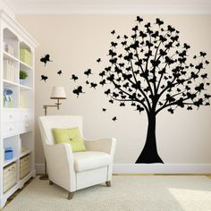 Butterfly Tree Wall Decal - Master Design Decals, 693x693 in 201.3KB