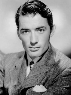 "Gregory Peck ❥ Whoever coined the term, ""Tall, dark and handsome"", HAD to be looking at this guy. ❥"