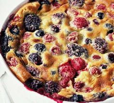Fruit & almond clafoutis. I always find myself drawn to this in all my cookery books!