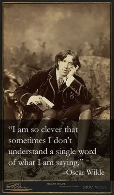 Oscar Wilde would be so good at Tumblr.