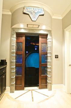 home theater doors. stargate atlantis home theatre air pocket doors theater e