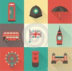 Iconos del vintage de Londres
