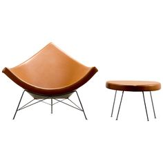 George Nelson for Herman Miller Coconut Chair and Ottoman, 1950s   1stdibs.com