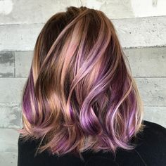 "Color|vivids|LosAngeles on Instagram: ""Another look at those hidden pops of #purplehaze and rose gold. #modernsalon """