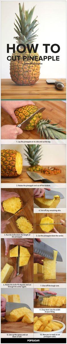 I should know this, but Im too spoiled with my pampered chef pineapple slicer 😊