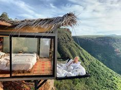 """The View From This Hotel Room in Colombia With a Suspended Net """"Balcony"""" Is Unreal - The Effective Pictures We Offer You About diy crafts A quality picture can tell you many things. Casas Containers, Cool Tree Houses, Forest House, House In The Woods, Dream Vacations, Future House, Beautiful Places, Travel, Outdoor"""