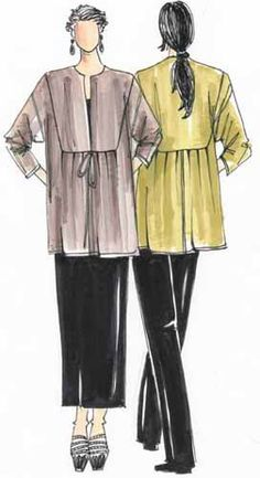 Sewing Pattern: Inset Jacket.  Would be interesting in a sheer cotton, maybe printed?