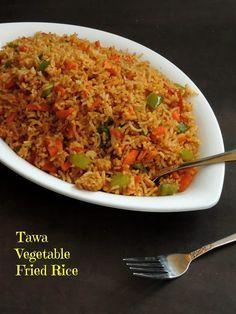 Spicy Recipes, Indian Food Recipes, Vegetarian Recipes, Cooking Recipes, Ethnic Recipes, Vegetable Fried Rice, Fried Vegetables, Veg Dishes, Rice Dishes