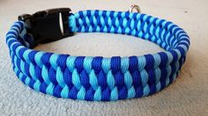"Boa Weave Custom Paracord Dog Collar by KnottyDogDesigns on Etsy 1 - 9"" collar $14 10-15"" collar $16 16-21"" collar $20 22-26"" collar $25 27-31"" collar $30 1inch wide Paracord Dog Collar. Made to order with military grade 550 paracord Available in 1 or 2 Colors"