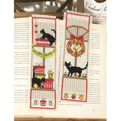 Kitty Silhouette Bookmarks Counted Cross Stitch Kit - Cross Stitch, Needlepoint, Embroidery Kits – Tools and Supplies