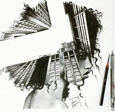 O ilustrador Patrick Antounian pensou fora da caixa e trouxe a técnica da dupla exposição para sua área: a ilustração. Confira!