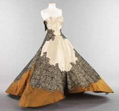 Charles James - Ball Gown, 1953    Felix Pick: I've handled this dress in person, It's called the four leaf clover dress due to its inner construction.  He was a GENIUS.  The pattern for this gown would blow the mind of any fashion student !