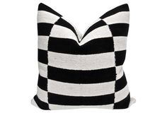 Handwoven Stripes  & French Linen Pillow SHOP: Fragments identity Brand Pillows @onekingslane.com