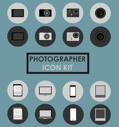 Free Photographer Icon Kit