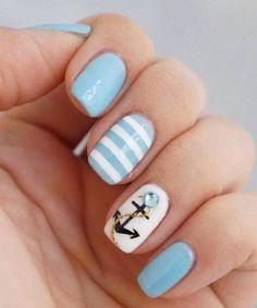 Amazing Anchor Nail Designs