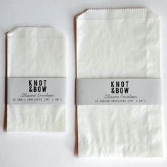 Glassine Envelopes. perfect to wrap a sandwich, candy, or any special little treat.