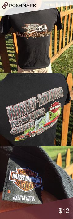 Harley Davidson Mens T Shirt Size Small Size small. Super gently preowned. Be sure to view the other items in our closet. We offer  women's, Mens and kids items in a variety of sizes. Bundle and save!! We love reasonable offers!! Thank you for viewing our item!! Harley-Davidson Shirts Tees - Short Sleeve