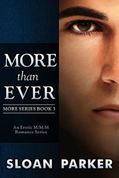 The third book in the More series, MORE THAN EVER, releases on February 12, 2019! #MMRomance #GayRomance #EroticRomance #MMM
