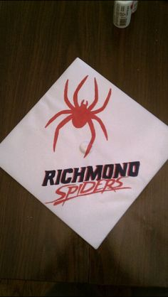 Richmond Spiders Graduation cap I painted Graduation Cap Designs, Graduation Cap Decoration, Richmond Spiders, University Of Richmond, Cap Decorations, Grad Cap, Decorating Ideas, My Arts, Centerpiece Ideas
