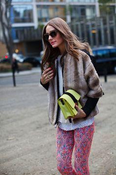 Olivia Palermo.......siempre logra vestirse tan bien! buena combinación de estilos, love it!