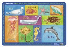 Sea Animals Placemat by Crocodile Creek
