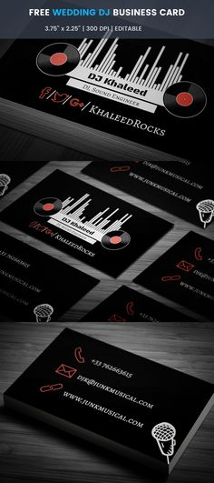 Free party dj business card pinterest business cards card free party dj business card pinterest business cards card templates and dj business cards accmission Images