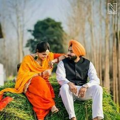 Pin @zaildarni Indian Wedding Couple, Sikh Wedding, Wedding Pics, Wedding Shoot, Wedding Couples, Movie Couples, Couples Images, Romantic Couples, Cute Couples