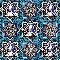 Turkish Art, Turkish Tiles, Islamic Art Pattern, Pattern Art, Islamic Tiles, Bicycle Wallpaper, Persian Pattern, Pattern And Decoration, Tile Art