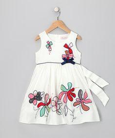 Look at this #zulilyfind! White Bow Tie Dress - Infant & Toddler by Rose Kelly #zulilyfinds