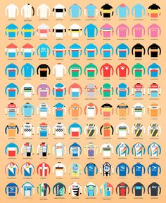 100 years of winners jerseys from Le Tour