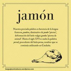 Etimologia jamon. Origen palabras