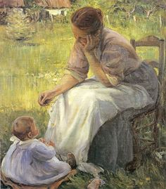 elisabeth Paintings I Love, Beautiful Paintings, Mary Cassatt, Renoir, Mother And Child, American Artists, Love Art, Oeuvre D'art, A4 Poster