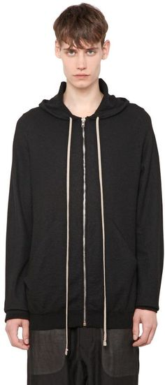 Hooded Zip-Up Cashmere Cardigan