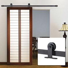 $79.99-Bellezza© 6FT Modern European Style Barn Wood Sliding Door Closet Hardware, (Dark Coffee) Bellezza http://www.amazon.com/dp/B0163XM1T0/ref=cm_sw_r_pi_dp_RJUJwb0YDVBHT