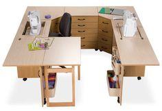 Sewing Machine Cabinets - Sylvia Design Sewing Furniture - Model U2810Q Wraparound Unit, $4,599.95 (http://www.sewingmachinecabinets.com/sylvia-design-sewing-furniture-model-u2810q-wraparound-unit/)